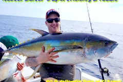 60 to 120 lb Yellowfin Tuna on the High Spots of El Banco