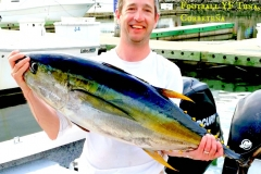 30 to 80 lb Yellowfin Tuna, for larger Tuna use a kite!