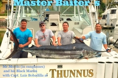 Mike Morris Fishing on Thunnus with Capt. Luis boated this nice Black Marlin at Corbeteña