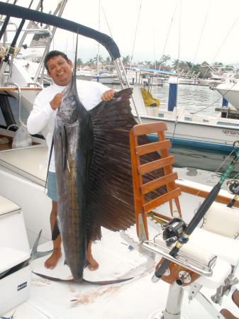 Nice Sailfish for Magnifico and Capt. Cesar