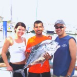 GuanaTuna with Capt. Torri in the middle with an African Pompano