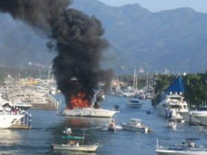 Uninsured Charter Boat Burns Down To The Water Line, People Injured!