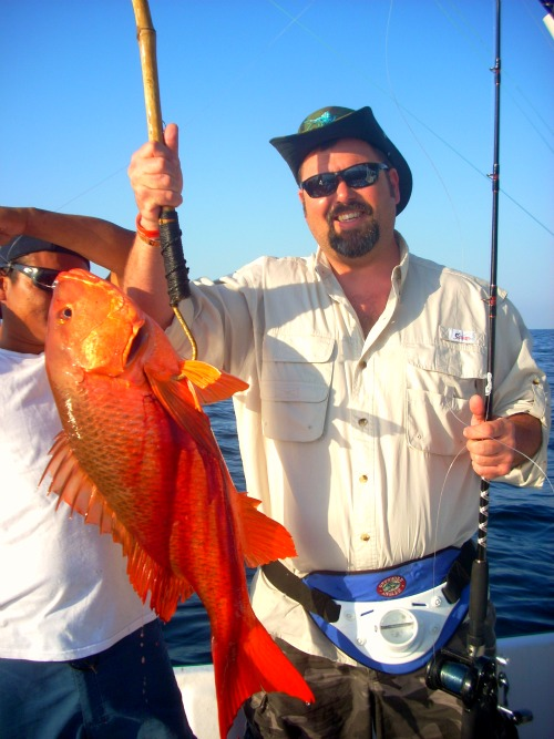Don DuVan with his 25lb Red Snapper