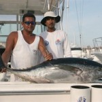 Yellowfin Tuna 80 lbs, El Banco, 22/8/11, Freak Catch for this time of year