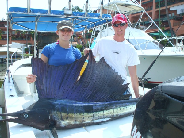 Sailfish, 96 inches Caught by Shawn Pendelton, 8 hrs, Bella Del Mar Panga