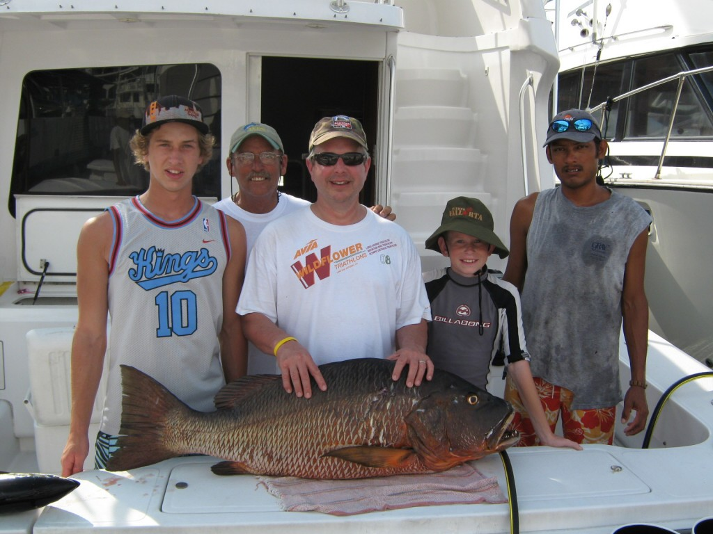 Cubera Snapper in the 50 lb range at Corbeteña
