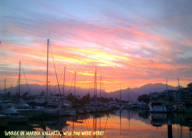 10 17 2014 Marina Vallarta Sunset, 715 a.m.