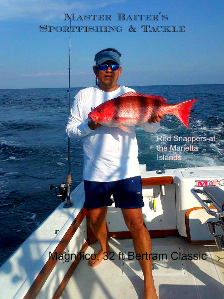 Capt. Cesar on Magnifico with a nice sized Snapper