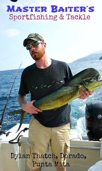 Dylan Thatcher fishing in Banderas Bay on Nofa or 25ft super panga