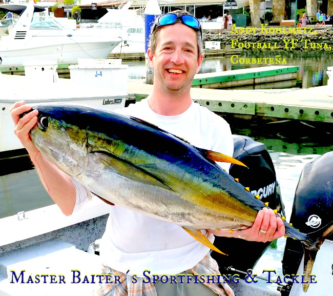 Andy took a chance when I heard the Tuna were happening off Corbeteña. Andy hit a nice Football YF Tuna