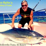 Larry Lionetti with his 130 lb Yellowfin Tuna boated off the high spots of El Banco on Pescador
