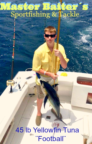 More Yellowfin Tuna around Corbeteña in small to large sizes, just depends on what you come across!