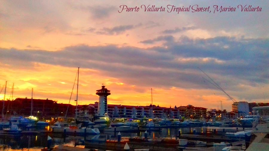 Hurricanes and Tropical Storms can produce some Spectacular Sunsets, this was taken from my shop on the boardwalk in Marina Vallarta, Que Hermosa!