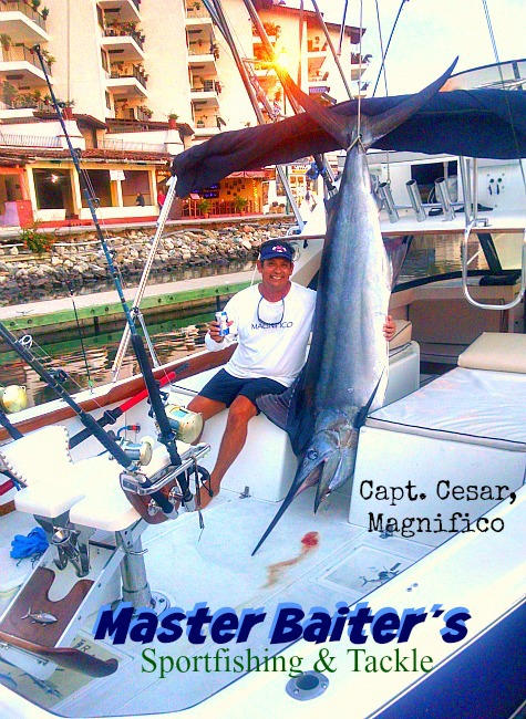 Capt Cesar of Magnifico with a nice Black Marlin at the dock after another successful day!