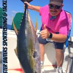 Yellowfin Tuna off El Banco 3 miles to the west of the high spots