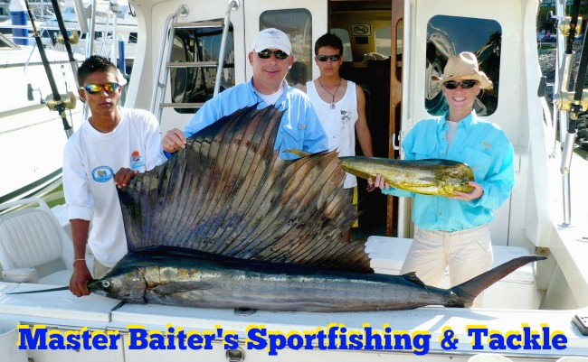 Sailfish and Smaller Dorado in the bay