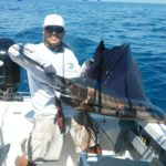 Cap[t Chema on Profeta with a beauty of a Sailfish at Punta Mita