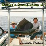 Sailfish Heaven at Punta Mita with Capt. Chema (R) on Profeta, one of our four super pangas.