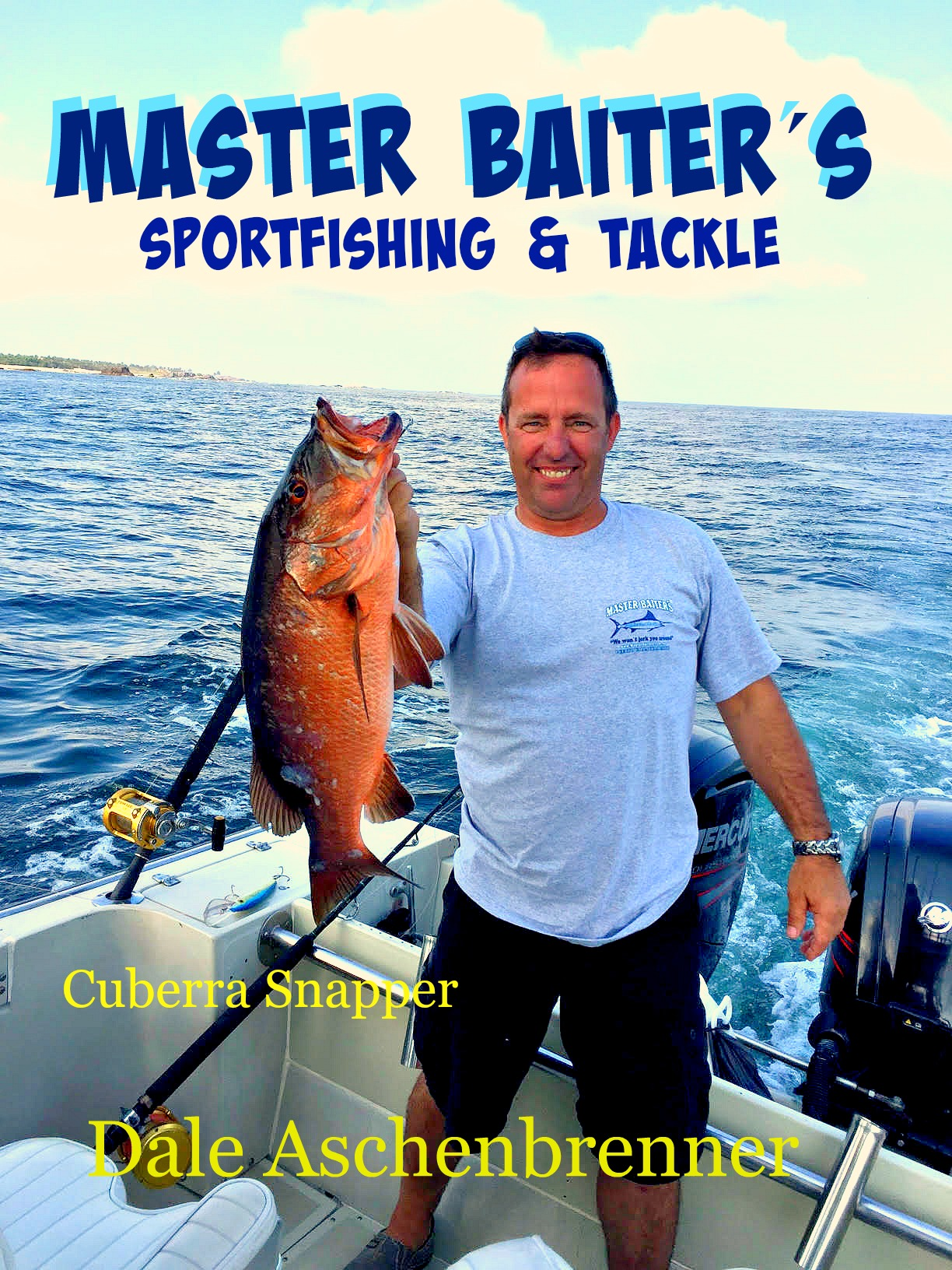 Master Baiters Big Game Sport Fishing T Shirts Tackle Md Agen Cubera Snapper Of 20 Lbs Is Perfect Size For Eating A Family Four