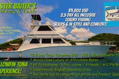 60ft Hatteras Sportfisher, Luxury all the way. Compare our prices, you'll agree. If you mention you read this article and we'll drop the price a thousand dollars..or $8,800 usd... Beat That!